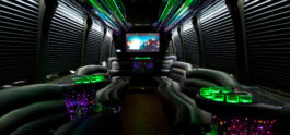 limo bus interior